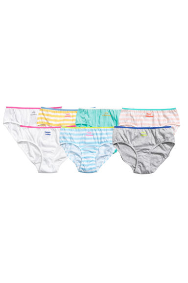 7-pack briefs - Yellow/Striped - Kids | H&M 1